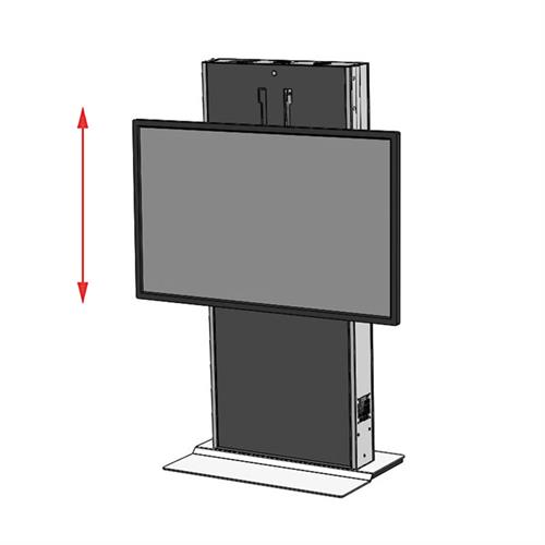 View a large image of the Audio Visual Furniture LFT7000FS-S Large Fixed Base Electric Lift Stand here.
