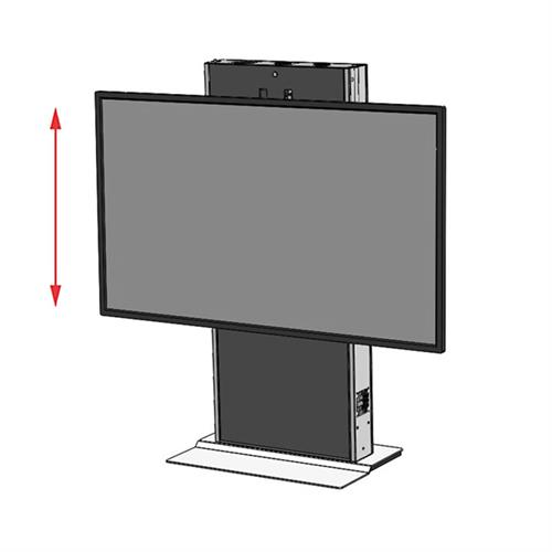 View a large image of the Audio Visual Furniture LFT7000FS-XL Extra Large Fixed Base Electric Lift Stand here.
