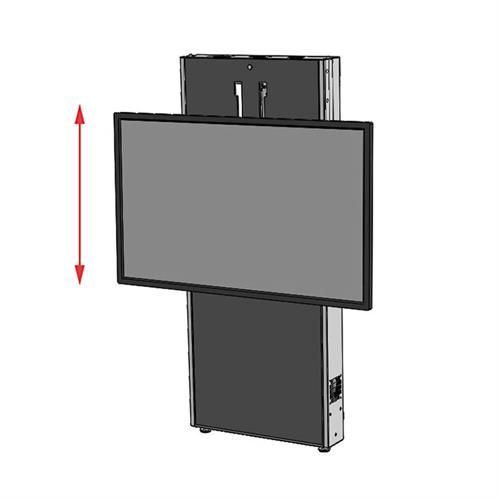 View a large image of the Audio Visual Furniture LFT7000WM-S Large Wall Mounted Electric Lift Stand here.