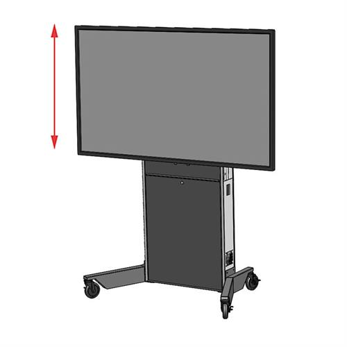 View a large image of the Audio Visual Furniture LFT7000-XL Extra Large Mobile Electric Lift Cart here.