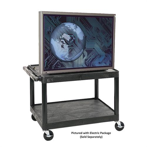 View a larger image of the Luxor LP Series 26 inch Mobile Cart (Black) LP26-B.