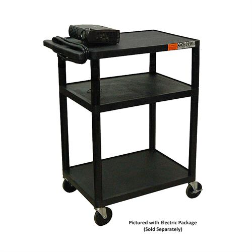 View a large image of the Luxor LP Series 34 inch Mobile Cart Black LP34-B here.