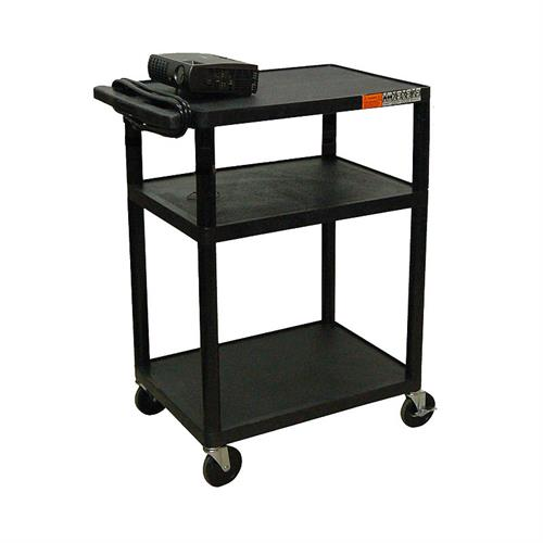 View a larger image of the Luxor LP Series 34 inch Mobile Cart (Black) LP34-B.