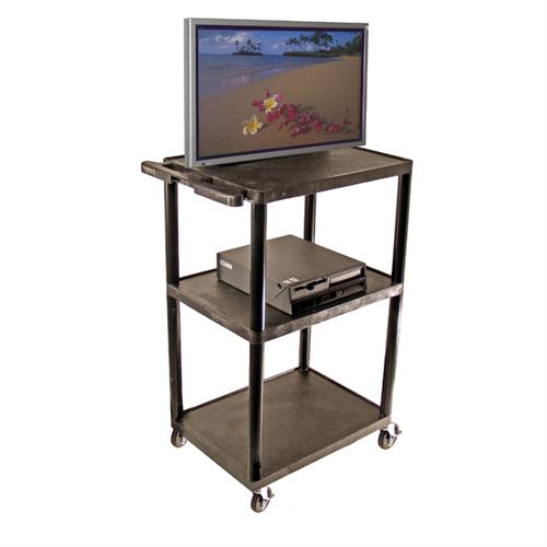 View a large image of the Luxor LP Series 48 inch Wide Body Mobile Cart Black LP48-B here.