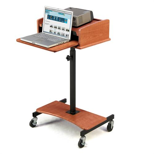 View a large image of the Oklahoma Sound Laptop Lectern Cherry LSS-CH here.