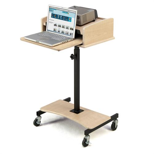 View a large image of the Oklahoma Sound Laptop Lectern Fusion Maple LSS-FM here.