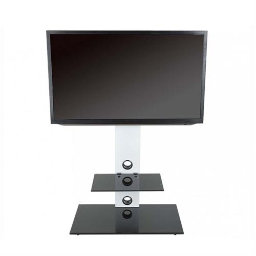 View a large image of the AVF Lesina Pedestal Stand with 65 inch TV Mount White FSL700LESW-A here.