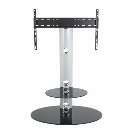 View a large image of the AVF Lugano Pedestal Stand with 32 to 65 inch TV Mount Silver FSL800LUS-A here.