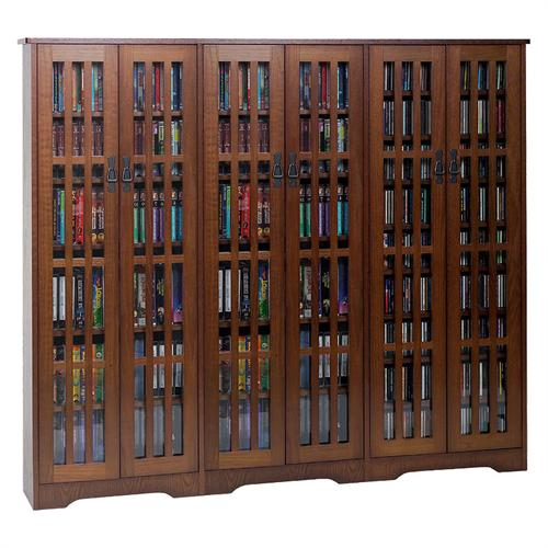 View a large image of the Leslie Dame Large Multimedia Cabinet Walnut M-1431W here.