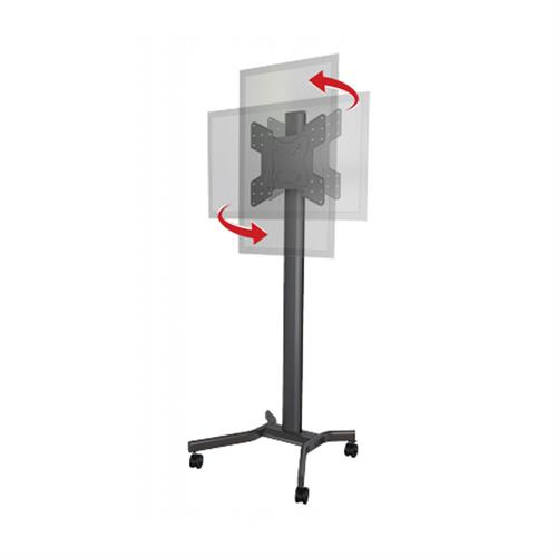 View a large image of Crimson Rotating Back to Back Cart for Large Screens, M55DVLP.