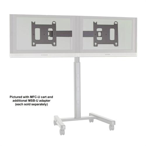 View a large image of the Chief Dual Side by Side Accessory for Carts and Stands MAC722 here.