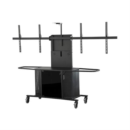 View a large image of the Audio Visual Furniture Extra Large Dual Display Cart MC1000-XLD PACKAGE L here.