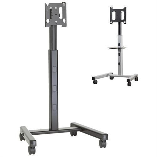 View a larger image of the Chief Adjustable Height Universal Mobile Floor Cart for 30-55 inch Screens (Silver or Black) MFCU.