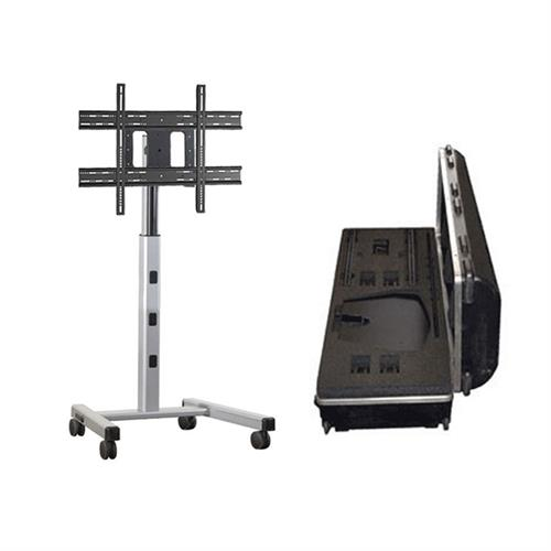 View a larger image of the Chief Medium Mobile Floor Cart with Travel Case (Silver) MFCUS700.