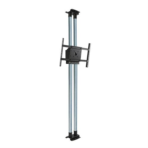 View a large image of the Peerless Modular Series Dual Pole Floor-to-Ceiling Kit Zinc MOD-FCS2KIT300 here.