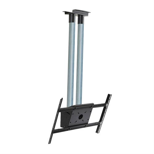 View a large image of the Peerless Modular Series Dual Pole Ceiling TV Mount Kit Zinc MOD-FPS2KIT150 here.