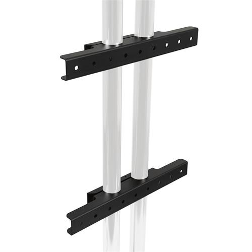 View a large image of the Peerless Modular Series Dual Pole Wall Mount Interface Black MOD-AWM2 here.