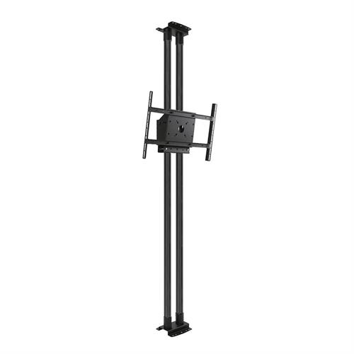 View a large image of the Peerless Modular Series Dual Pole Floor-to-Ceiling Kit Black MOD-FCS2KIT300-B here.