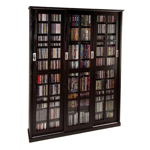 View a larger image of the Leslie Dame Multimedia Storage Cabinet (Espresso) MS-1050ES.