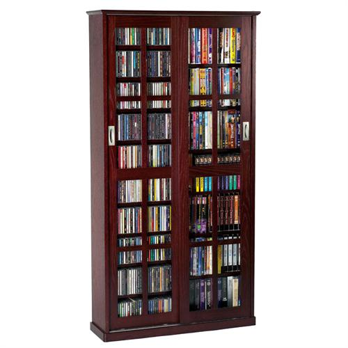 View a large image of the Leslie Dame Multimedia Storage Cabinet Dark Cherry MS-700DC here.