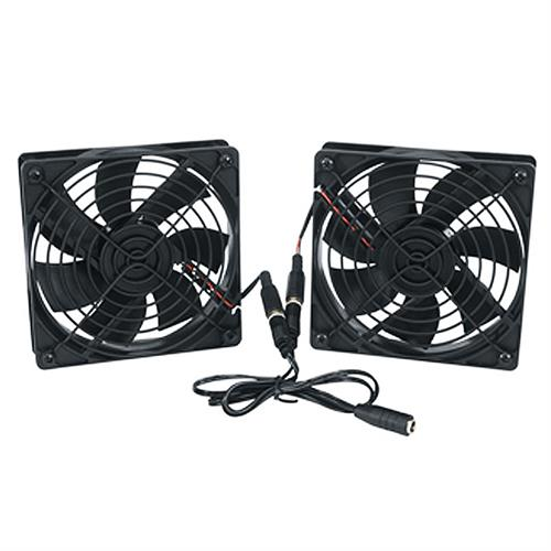 View a larger image of the Middle Atlantic DC Fan Kit (138 CFM, Thermo Controller) FAN2-DC-FC.