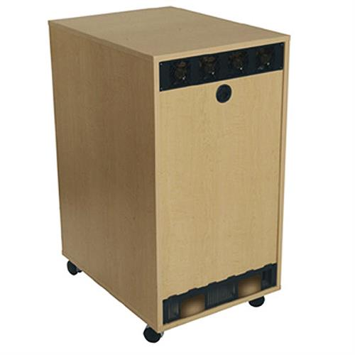 View a larger image of the Middle Atlantic Laminate Rear Access Panel (8RU, Maple) RK-RAP8-MP.
