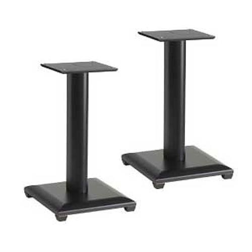 View a large image of the Sanus Natural Foundations 18 inch Speaker Stands Black NF18B here.
