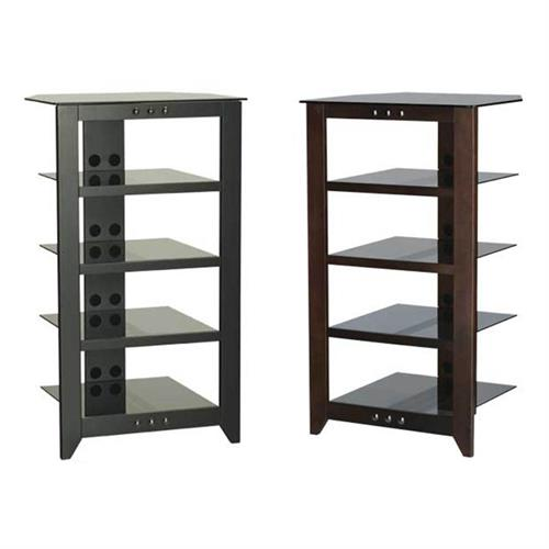 View a large image of the Sanus 5 Shelf Audio Video Stand Black or Mocha NFA245 here.