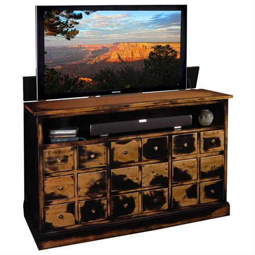 View a large image of the TV Lift Cabinet Nantucket Lift for 40 to 60 inch Screens Weathered Black AT006380WB here.