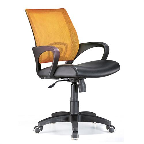 View a large image of the LumiSource Officer Series Office Chair Tangerine OFC-OFFCR TNG here.