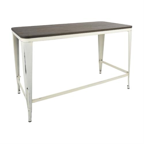 View a larger image of LumiSource Pia Industrial Desk (Vintage Cream, Espresso) OFD-PIA VCR+E here.