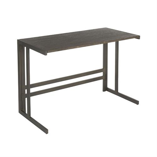 View a larger image of LumiSource Roman Office Desk (Antique Metal, Espresso) OFD-ROMAN ANE here.