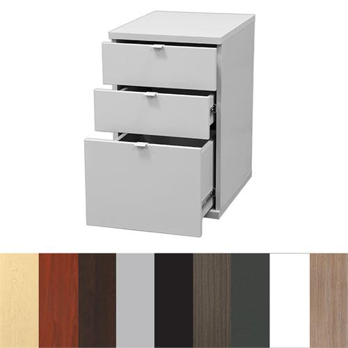 View a large image of the Audio Visual Furniture - 3 Drawer Pedestal for Desks PDTYZ1722 here.
