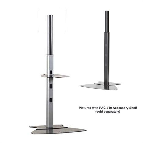 View a large image of the Chief PF12000B PF12000S Large Dedicated Flat Panel Floor Stand here.
