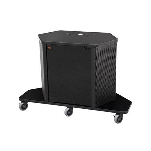 View a large image of the Audio Visual Furniture Display Cart with Rack Mount PL3070 here.