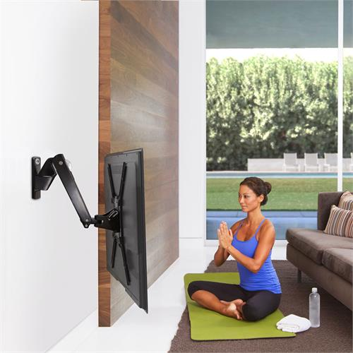 View a large image of the OmniMount PLAY40-BLACK Full Motion Interactive Wall Mount for 30-55 inch Screens here.
