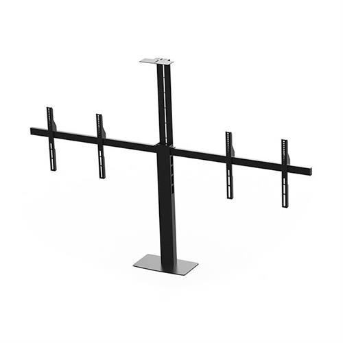 View a large image of the Audio Visual Furniture - VFI PM Series Dual Display Mount for 40-70 inch Screens Black PM2-D here.