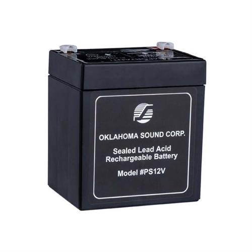 View a large image of the Oklahoma Sound Power Sonic 12 Volt 5-Amp Rechargeable Battery PS12V here.