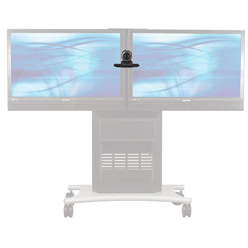 View a large image of the AVTEQ Center Camera Mount Shelf for 2 Flat Panel Screens PS-50 here.