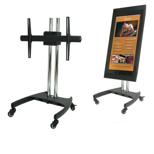 View a large image of the Premier Mounts Low-Profile Mobile Cart with 360 Degree Screen Rotation PSD-VPS here.