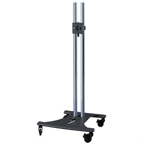 View a large image of the Premier Mounts 72 inch High Chrome Elliptic TV Floor Cart PSD-EB72C here.