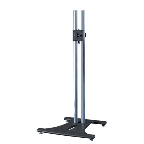 View a large image of the Premier Mounts 72 inch High Chrome Elliptic TV Floor Stand PSD-EB72 here.