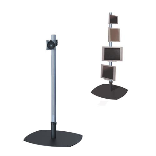 View a large image of the Premier Mounts PSP-60 Single 60 inch Chrome Pole Floor Stand for Small to Mid Size Screens here.