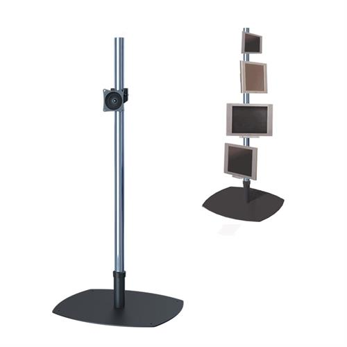 View a large image of the Premier Mounts PSP-72 Single 72 inch Chrome Pole Floor Stand for Small to Mid Size Screens here.