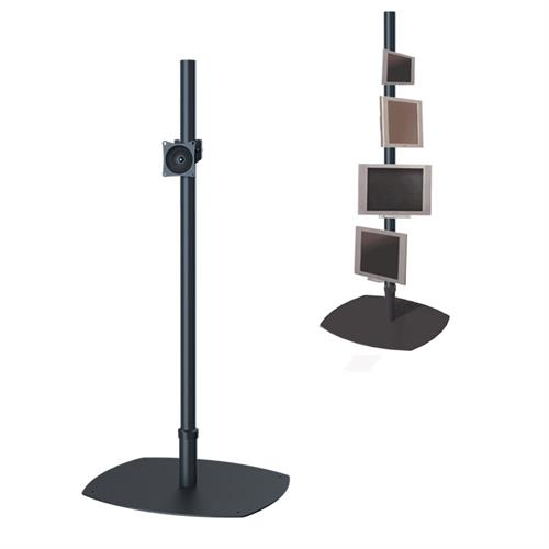 View a large image of the Premier Mounts PSP-72B Single 72 inch Black Pole Floor Stand for Small to Mid Size Screens here.