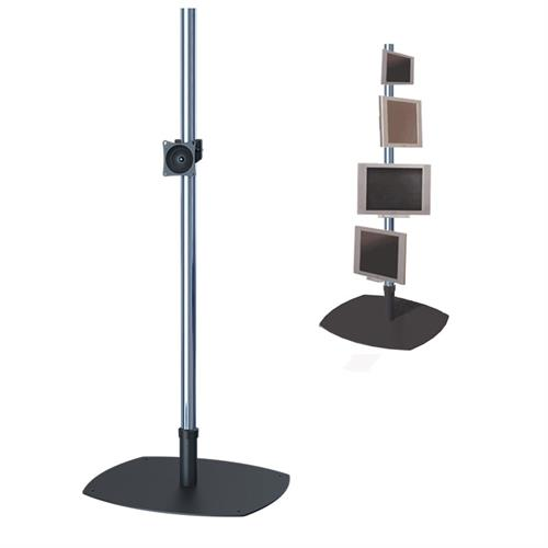 View a large image of the Premier Mounts PSP-84 Single 84 inch Chrome Pole Floor Stand for Small to Mid Size Screens here.
