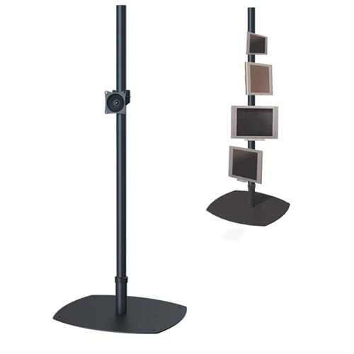View a large image of the Premier Mounts PSP-84B Single 84 inch Black Pole Floor Stand for Small to Mid Size Screens here.