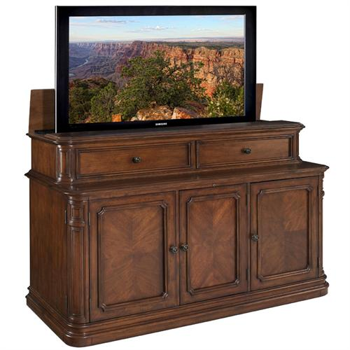 View a large image of the TV Lift Cabinet Pacifica Lift for 40-75 inch Screens (Stained) AT005000 here.