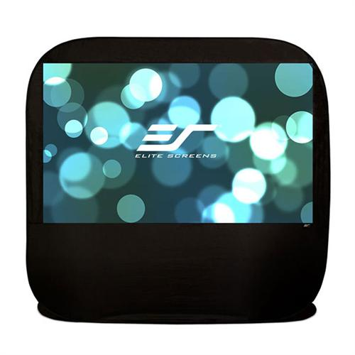 View a large image of the Elite Screens Pop-up Portable Indoor or Outdoor Projection Screen POP84H POP92H here.