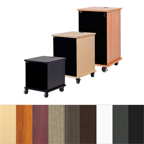 View a large image of the Audio Visual Furniture Deluxe Mobile Rack Various Sizes and Finishes VFI-RACK here.